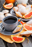 Fresh orange madeleines cookies Royalty Free Stock Photos