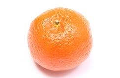 Fresh and orange mandarin on white background Royalty Free Stock Images