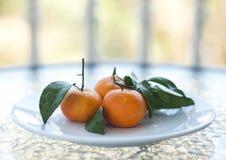 Fresh orange mandarines Stock Photo