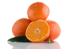 Fresh orange mandarins Royalty Free Stock Photo