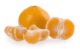 Fresh orange mandarins isolated on a white background Royalty Free Stock Image