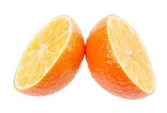 Fresh orange mandarins isolated on a white background Stock Photo