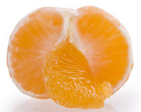 Fresh orange mandarins isolated on a white background Stock Photos