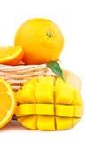 Fresh orange and mango Royalty Free Stock Image