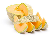 Fresh orange melon Royalty Free Stock Photography