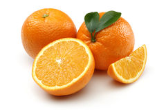 Fresh Orange and orange slice Stock Images