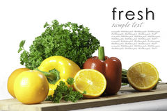 Fresh orange parsley and bell pepper Stock Images