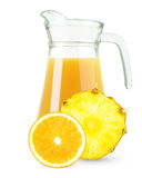Fresh orange-pineapple juice Royalty Free Stock Photography