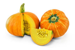 Fresh orange pumpkin Royalty Free Stock Image