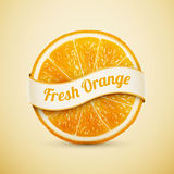 Fresh orange with ribbon royalty free illustration