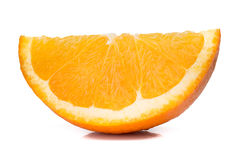 Fresh orange slice isolated on white Stock Image