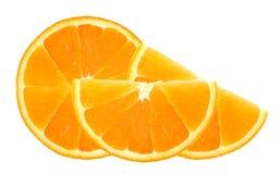 Fresh orange slice isolated on white Royalty Free Stock Photo