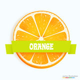 Fresh orange slice with stripe Royalty Free Stock Photo