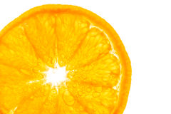 Fresh orange slice in water with bubbles Royalty Free Stock Photos
