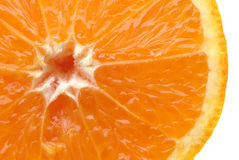 Fresh orange slice on white Stock Images