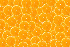 Fresh orange and slices background Stock Photos