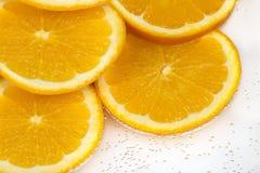 Fresh orange slices Stock Images