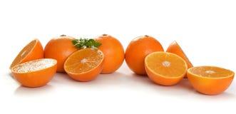 Fresh orange slices on white Royalty Free Stock Photo