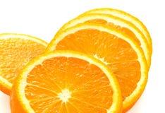 Fresh orange slices on white background. Close-up. Studio photog. Fresh orange isolated on white background stock photo