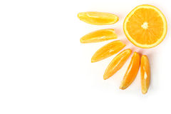 Fresh orange sun Stock Photos