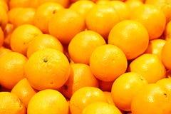 Fresh orange in supermarket Stock Photos