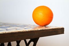 Fresh Orange on a table Stock Photos