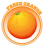 Fresh orange with text Royalty Free Stock Photography