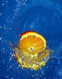 Fresh orange in water Royalty Free Stock Photo