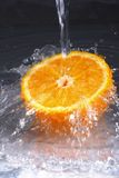 Fresh orange , water splash Stock Photo