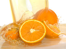 Fresh orange , water splash Stock Photography