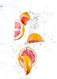 Fresh orange with water splash Royalty Free Stock Photo