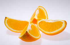 Fresh orange  on white Stock Photo