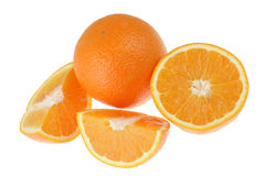 Fresh orange on white Stock Photography