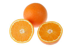 Fresh orange on white Stock Images