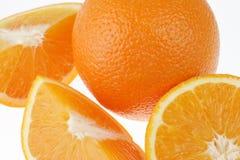 Fresh orange on white Royalty Free Stock Images