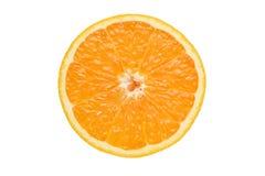 Fresh orange on white Royalty Free Stock Photography