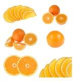 Fresh orange on white Stock Photography