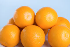 Fresh orange. On white background Stock Images