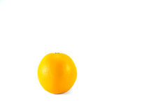 Fresh orange. Fresh orange on white background royalty free stock image