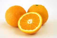 Fresh oranges Stock Images