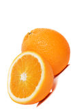 Fresh oranges. Deliciously fresh oranges, halved and ready to eat stock images