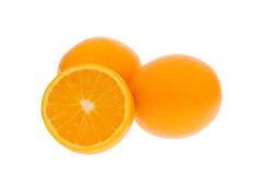 Fresh oranges. Isolated on a white background stock image