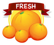 Fresh oranges with banner Stock Images