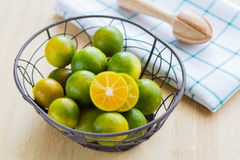 Fresh oranges in a basket. Fresh oranges for healthy in a basket Royalty Free Stock Images