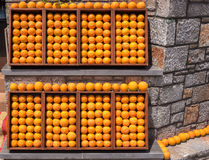 Fresh Oranges Display Stock Photography