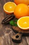 Fresh oranges fruits Stock Images