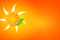 Fresh oranges fruits with green leaves and slices Stock Photography