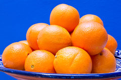 Fresh Oranges In A Bowl Stock Photography