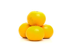 Fresh oranges isolate on white background Royalty Free Stock Image