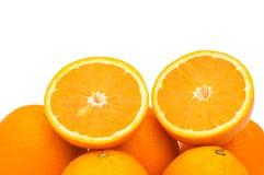Fresh oranges isolated on the white background Stock Photo